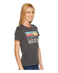 Life Is Good. - Black Mountains Sunset Stripe Cool Tee - Lyst