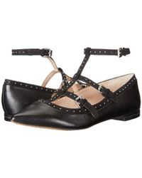 French Connection - Black Geklin Pointed Strappy Flats - Lyst