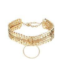 DANNIJO - Metallic Zig Necklace - Lyst