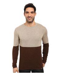 Prana - Brown Color Block Sweater for Men - Lyst