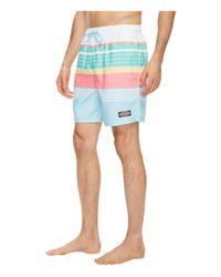 27d37518dc204 Vineyard Vines Boca Bay Stripe Chappy Swim Trunks in Blue for Men - Lyst