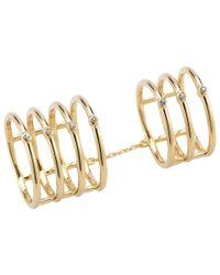 Elizabeth and James - Metallic Berlin Knuckle Ring - Lyst