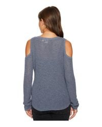 Roxy - Blue Unlimited Travel Cold Shoulder Sweater - Lyst