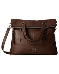 Fossil - Brown Dawson Fold-over Tote - Lyst