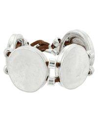 Robert Lee Morris - Metallic Circle Textured Bracelet - Lyst