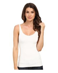 Miraclebody - White Farah Cascade Front Blouse W/ Body-shaping Inner Shell - Lyst