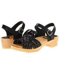 Swedish Hasbeens - Black Braided Low - Lyst