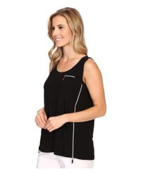 Jamie Sadock - Black Life Style Jasmine Sleeveless Tank Top With Back Inverted Pleat - Lyst