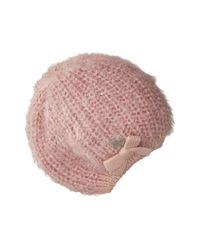 Betsey Johnson - Pink Pearl Crazy Beret - Lyst