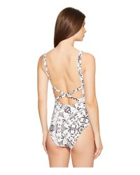 Nicole Miller - Multicolor La Plage By Melanie Tidal Pleat One-piece - Lyst