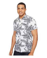 Hurley - Gray Long Waves Print Shirt for Men - Lyst