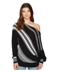 Free People - Black Spectrum Stripe Sweater - Lyst