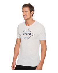 Hurley - Gray Locked Tri-blend T-shirt for Men - Lyst