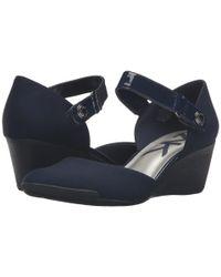 Anne Klein - Blue Sport Tasha Fabric S Ankle Strap - Lyst