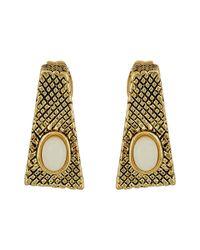 House of Harlow 1960 | Metallic Tanta Crosshatch Stud Earrings | Lyst