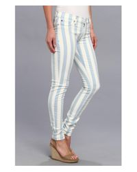 Hudson - Multicolor Krista Super Skinny Stripe In Liberated - Lyst