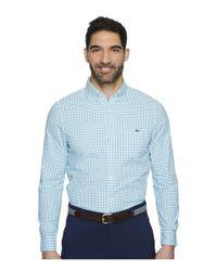 Vineyard Vines - Blue Tipsy Turtle Check Slim Tucker Shirt for Men - Lyst