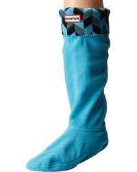 Hunter - Blue Geometric Dazzle Boot Sock - Lyst