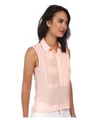 French Connection | Pink Polly Plains Top 6Dbi | Lyst