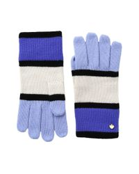 Kate Spade - Blue Color Block Gloves - Lyst