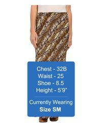 Roper Brown 9907 Aztec Print Rayon Maxi Skirt