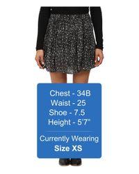 Lucky Brand - Black Printed Mini Skirt - Lyst
