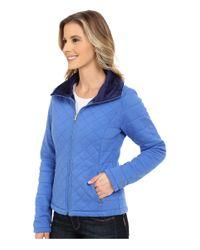The North Face - Blue Caroluna Crop Jacket - Lyst