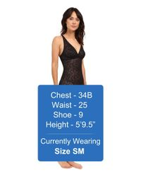 Yummie By Heather Thomson | Black Latrice All Over Lace Slip | Lyst