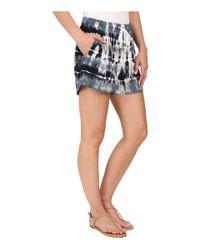 Splendid - Black Treatment Rayon Voile Shorts - Lyst
