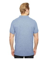U.S. POLO ASSN. - Blue Twisted Yarn Polo Shirt for Men - Lyst