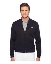 Fred Perry | Blue Bomber Track Jacket for Men | Lyst