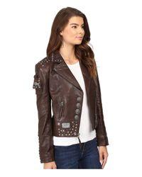 Double D Ranchwear | Brown Benitez Biker Jacket | Lyst