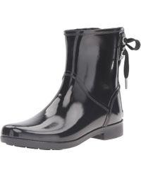 MICHAEL Michael Kors - Black Larson Rain Bootie - Lyst