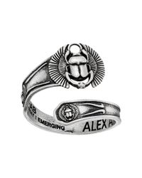 ALEX AND ANI - Multicolor Spoon Ring Scarab - Lyst