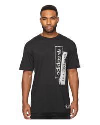 Adidas Originals - Black Linear Overlays for Men - Lyst