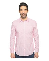 Calvin Klein - Pink Infinite Cool Check Button Down for Men - Lyst
