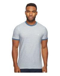 Original Penguin - Blue Short Sleeve Twill Auto Stripe Tee for Men - Lyst