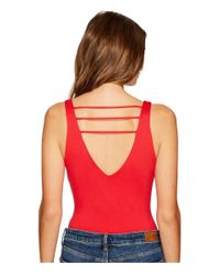 Lucy Love - Red Scoop Bodysuit - Lyst