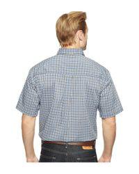 Cinch - White Short Sleeve Athletic Plaid for Men - Lyst