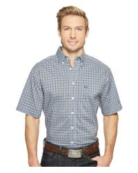 Cinch | White Short Sleeve Athletic Plaid for Men | Lyst