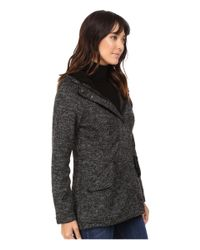Steve Madden - Gray High-low Sweater Coat - Lyst
