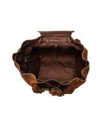 Frye | Brown Clara Fringe Backpack | Lyst