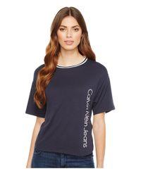 Calvin Klein Jeans - Blue Sport Stripe Boy T-shirt - Lyst