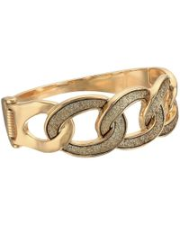 Guess - Metallic Frozen Link Hinge Bangle - Lyst