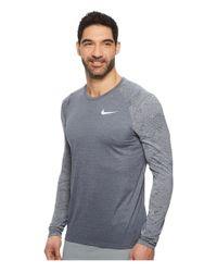 Nike - Gray Dry Miler Long-sleeve Running Top for Men - Lyst