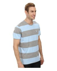 U.S. POLO ASSN.   Blue Wide Stripe T-shirt for Men   Lyst