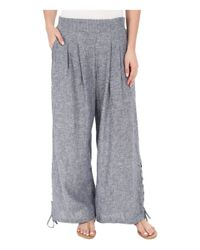Miraclebody - Blue Lil Cropped Wide Leg Pull-on Pants - Lyst