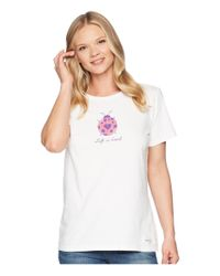 Life Is Good. - White Lady Bug Love Crusher Tee - Lyst