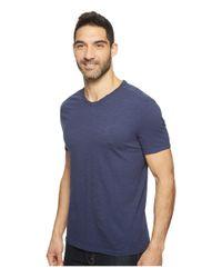 Calvin Klein Jeans - Blue Mixed Media V-neck Tee for Men - Lyst