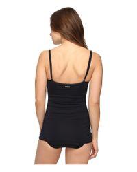Vince Camuto - Black Fiji Solids Shirred Swimdress One-piece - Lyst